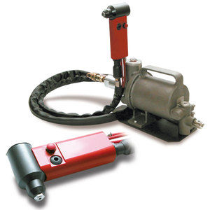 hydro-pneumatic riveter / oleo-pneumatic / for blind rivets / with ejection system