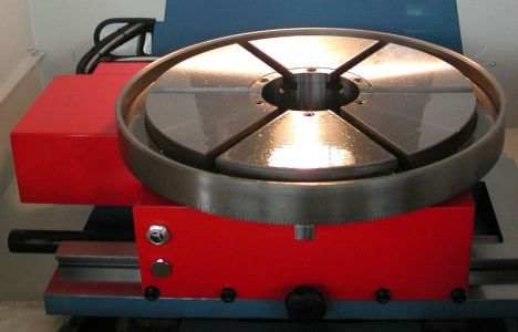 electric turntable / for machine tools
