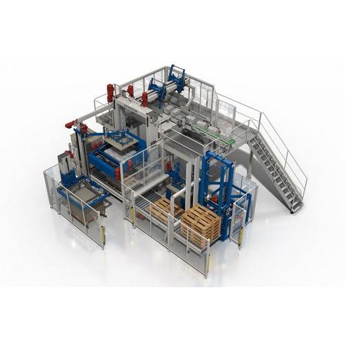 high level infeed palletizer / case / box / pallet