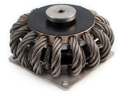 round anti-vibration mount / steel / wire rope isolator