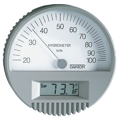 digital thermo-hygrometer / wall-mounted / temperature / relative humidity