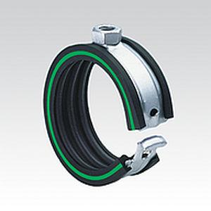 pipe clip / galvanized steel / fixing / spring