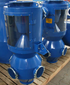 cyclone separator / particle / for the plastics industry