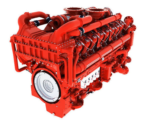 diesel engine / 16-cylinder / turbocharged / for mining applications