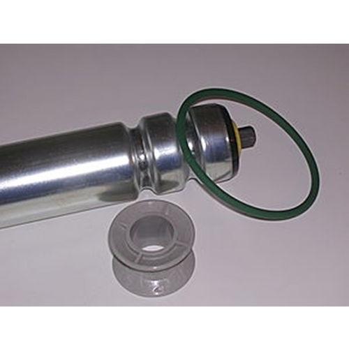 belt-driven conveyor roller / zinc-plated steel