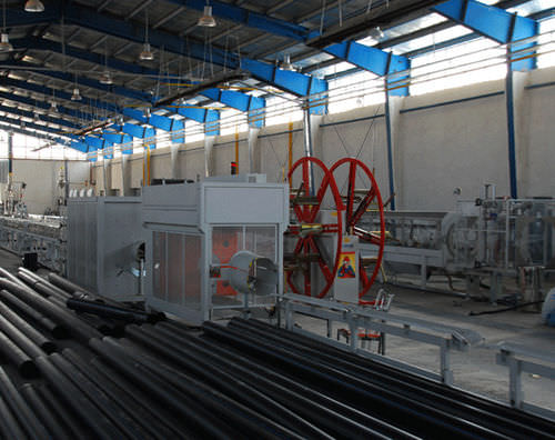 tube extrusion line / for PE