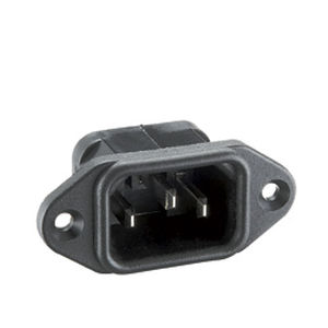 electrical power supply connector / rectangular / screw-in / weld