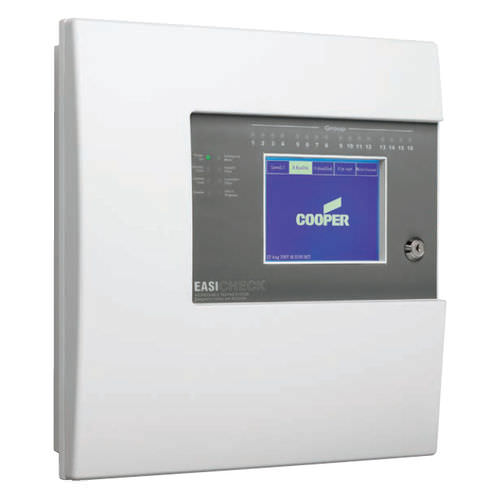 Fire alarm control panel / analog / addressable / with touchscreen EasiCheck 2 Cooper Lighting and Safety