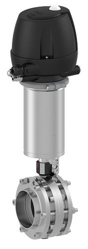 Pneumatically-actuated butterfly valve / shut-off / hygienic ø 15 - 150 mm | T-smart 7 series Tuchenhagen