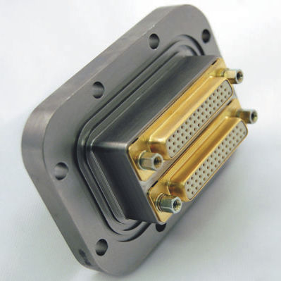 data connector / D-sub / flange / screw-locked