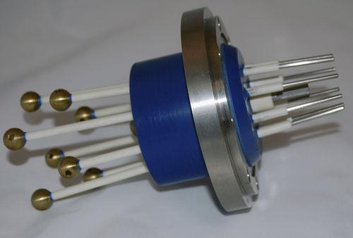 high-voltage cable feedthrough