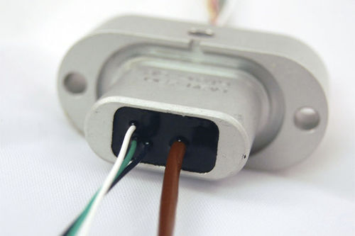 feedthrough with fiberglass-insulated thermocouple wires / for electrical cables / multiple-element / hermetically-sealed