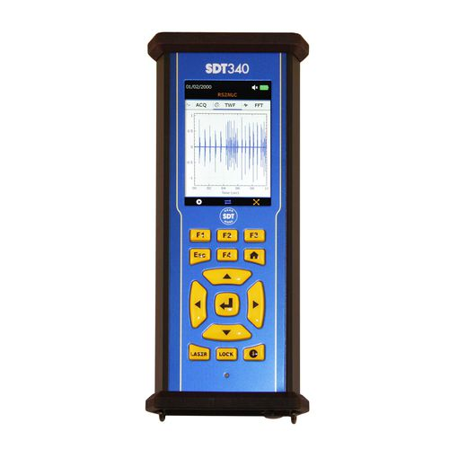 vibration monitoring device / condition / lubrication / for bearings