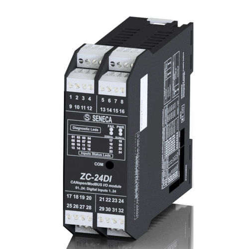 Digital I O module / Modbus ZC-24DI | 24 inputs SENECA - Automation Interfaces