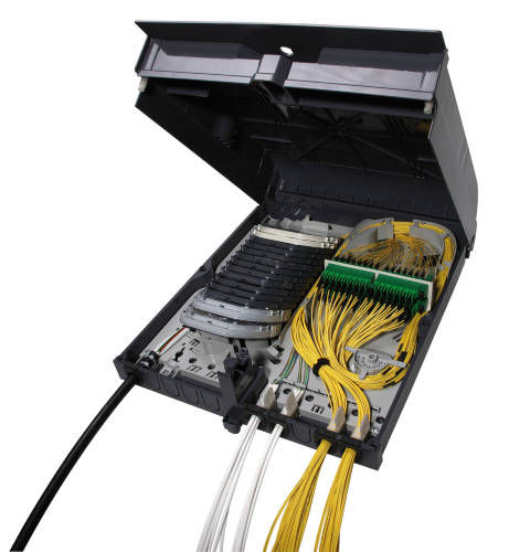 Indoor splice box / fiber optic OptiBox32 HUBER+SUHNER