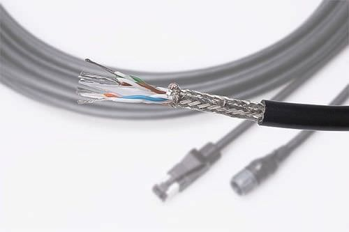 optical data cable / RJ45 / multi-conductor / halogen-free