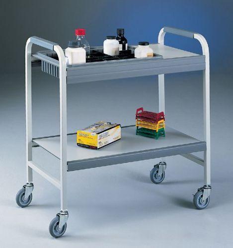laboratory cart / transport / metal / shelf