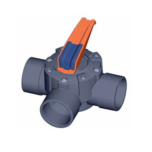 3-way valve / disc / manual / electric