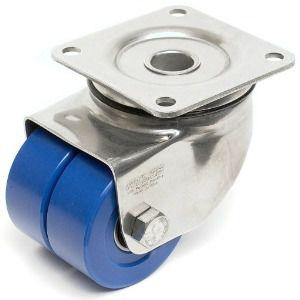 swivel caster / base plate / threaded stud / high load capacity