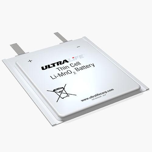 Li-MnO2 battery / flat / thin / primary