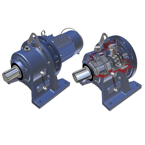 single-phase electric gearmotor / coaxial / gear train / compact