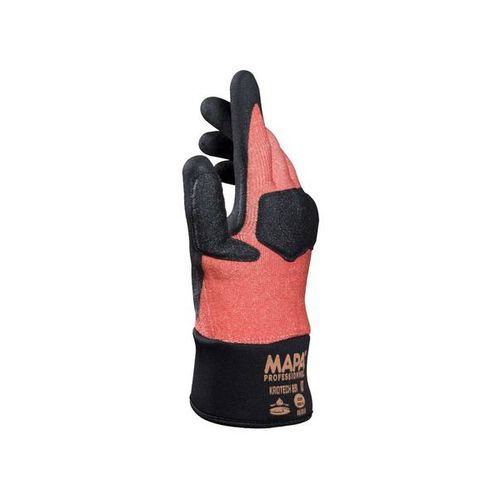 work glove / mechanical protection / oil-resistant / nitrile