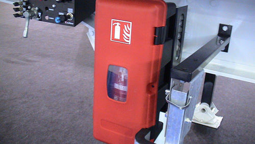 fire extinguisher box / rectangular / polypropylene / lockable