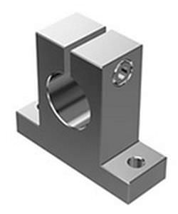 shaft end support / precision / aluminum