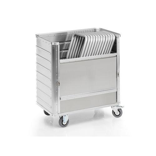transport cart / aluminum / multipurpose / waste