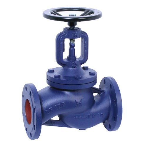 globe valve / with handwheel / flow control / for hot water
