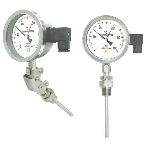 liquid dilation thermometer / analog / insertion / stainless steel