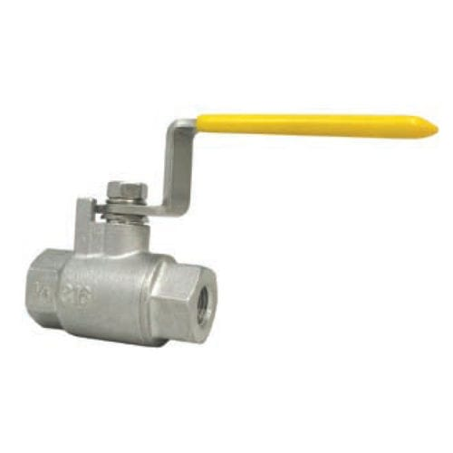 ball valve / lever / flow control / for chemicals