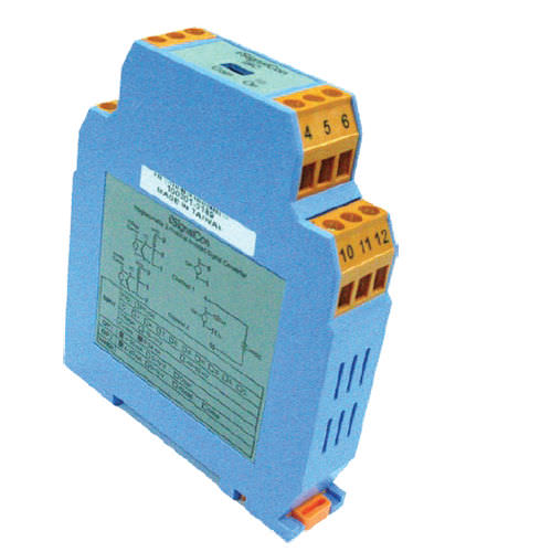 DIN rail mount temperature transmitter / Pt100 / thermocouple / analog