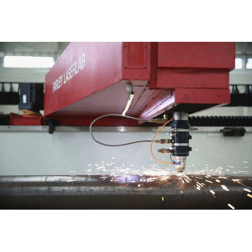 steel cutting machine / laser / CNC / for slotted steel tubes