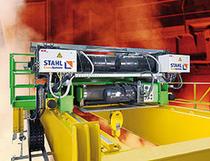 Electric cable hoist / for metallurgical applications / double-rail TDC STAHL CraneSystems GmbH