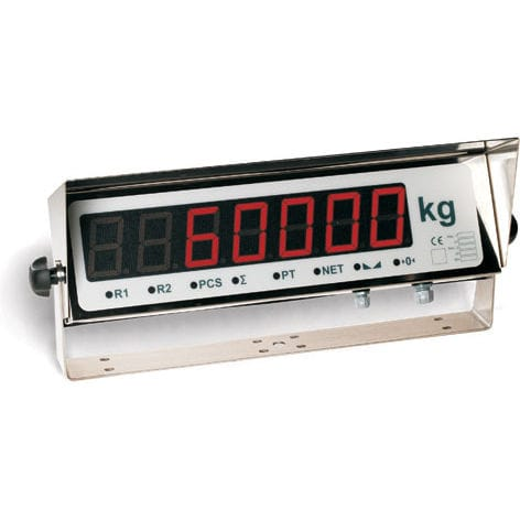 LED display weight indicator / wall-mount / IP65 / stainless steel