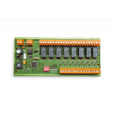 digital I/O module / RS-485 / 8 digital inputs / DIN rail