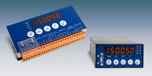 digital weight indicator-transmitter / DIN rail / panel-mount