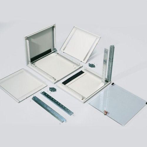 wall-mount enclosure / rectangular / sheet steel / glass door