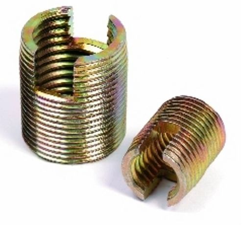 threaded insert / self-tapping / metal / round