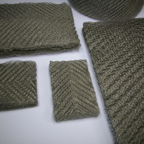stainless steel filter element / liquid / knitted wire mesh