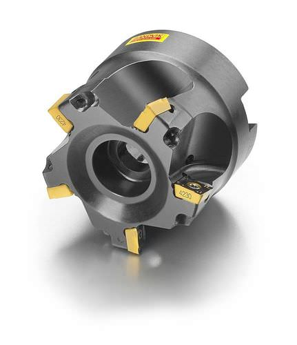 shell-end milling cutter / insert / face / for metal