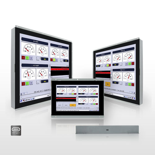 open-frame monitor / LCD / projected capacitive touchscreen / 15