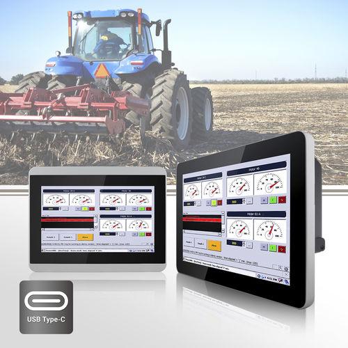 multi-touch screen display / panel-mount / VESA mounting / high-brightness