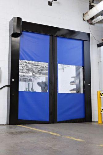 sectional door / sliding / PVC / fabric