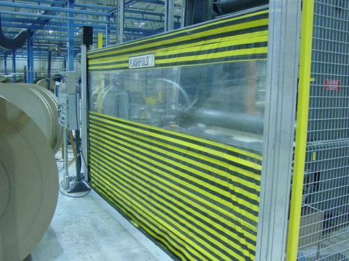 roll-up door / aluminum / fabric / PVC