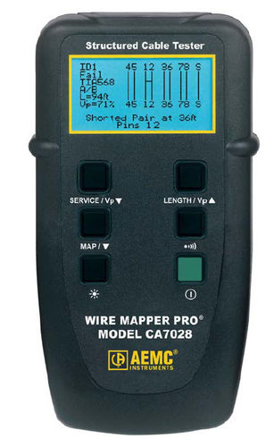 LAN network tester / cable 500 ft (150 m) | CA7028 AEMC Instruments