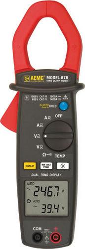 digital clamp multimeter / portable / 1000 V / true RMS