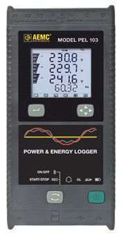 power data-logger / energy / with screen / programmable