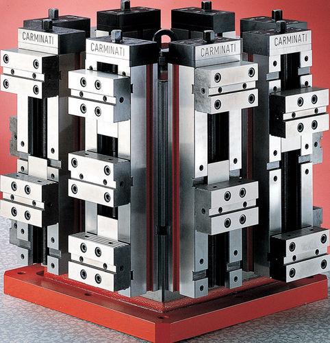 machine tool vise / vertical / cast iron